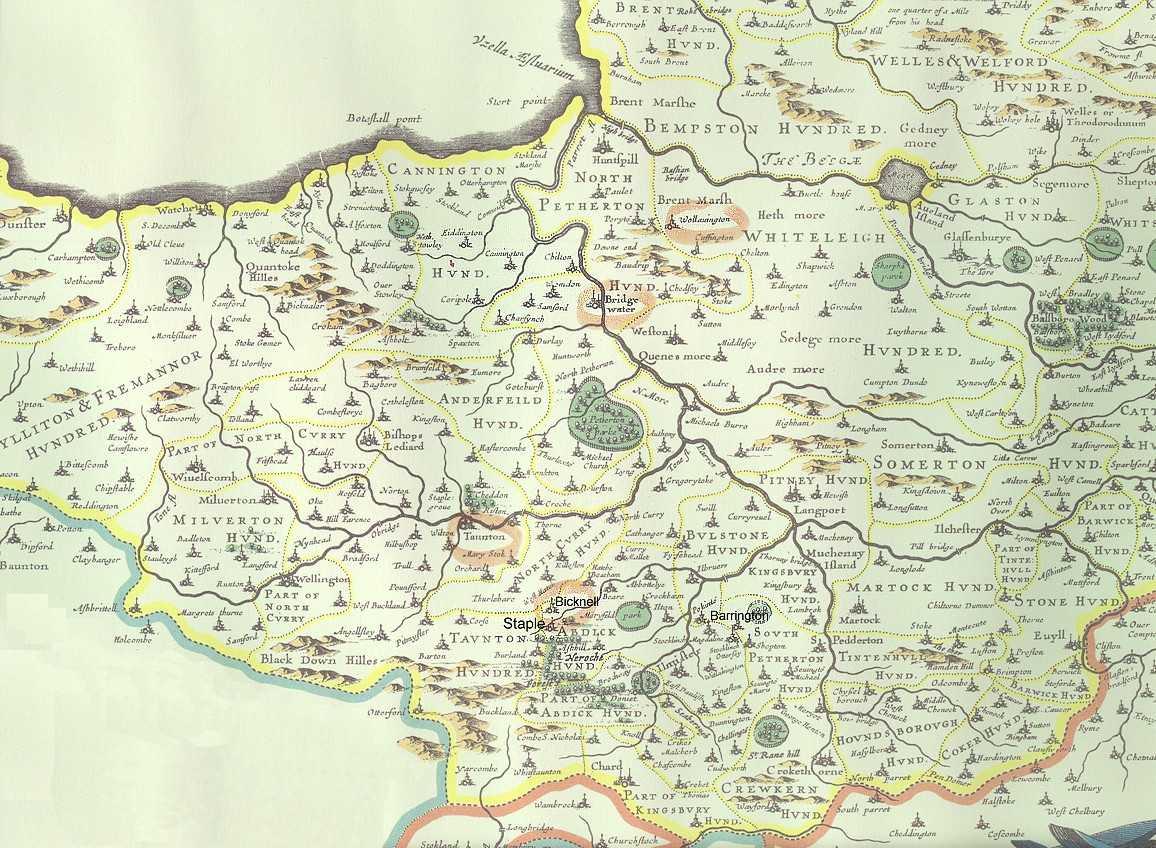 1648 Somerset Map